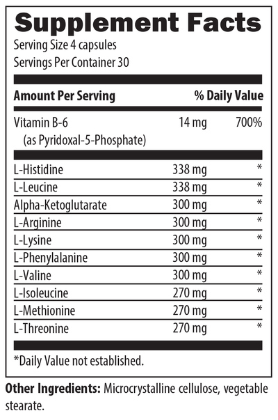 amino acid extreme 120 nutrition info
