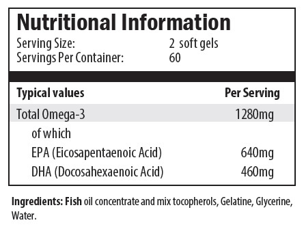omega 3 concentrate 120 nutrition info