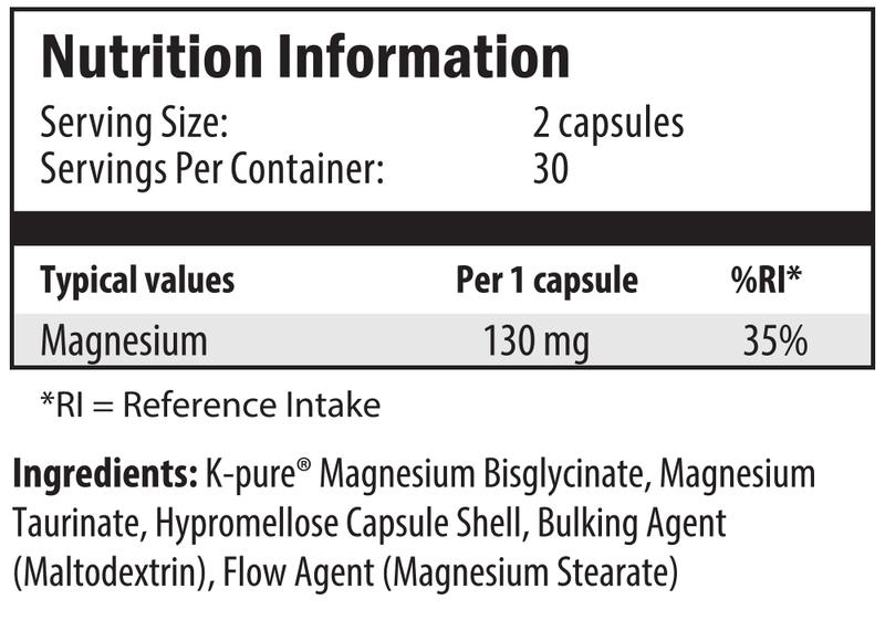 ultramag 60 nutrition info